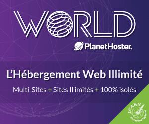 Hébergement Web illimité : multi-sites, illimité et 100% isolés.